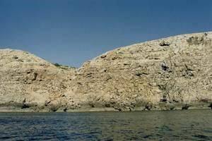 Desembocadura del torrent de sa Fusta, a l´O del cap de Barbaria. Foto: Zenó Gàsser.