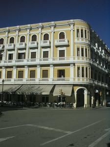 El Gran Hotel, després Hotel Montesol, obra emblemàtica de Joan Gómez Ripoll. Foto: EEiF.