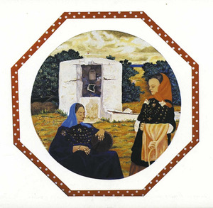 Ian Galbraith. Dones eivissenques (1986); oli damunt fusta, 80 x 80 cm.