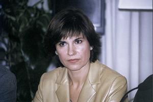 """La periodista Concha García Campoy, en un acte celebrat a Eivissa l´any 2000. Foto: Vicent Ribas """"Trull""""."""