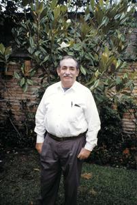 El periodista Emili Garcia Riera a la seua casa de Zapopan, Mèxic, el 1997. Foto: Francesc Lluy Torres.