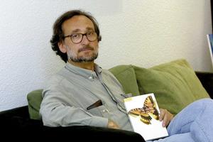 L´escriptor i periodista Carlos Garrido Torres, autor de diversos treballs sobre les Pitiüses. Foto: Vicent Marí.