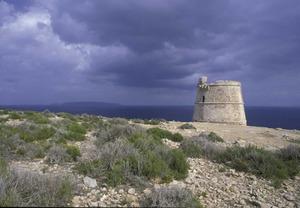 La torre des Garroveret, al cap de Barbaria. Foto: David García Jiménez.