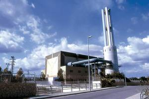 La nova central de Gas i Electricitat SA d´Eivissa, que entrà en funcionament a partir de 1982. Foto: Raymar.