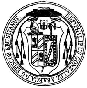 Segell del bisbe Felipe González Abarca.