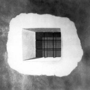 Obra del pintor i arquitecte nord-americà Allan Gould, establert a Eivissa des de 1970. Foto: arxiu de Marià Planells Cardona.