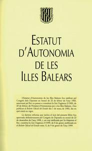 Govern Balear. Portada d´una edició de l´Estatut d´Autonomia de les Illes Balears.