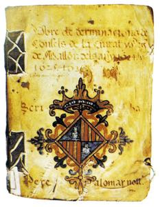 Llibre de determinacions del Gran i General Consell corresponent a 1624-26. Cortesia de la <em>Gran Enciclopèdia de Mallorca</em>.