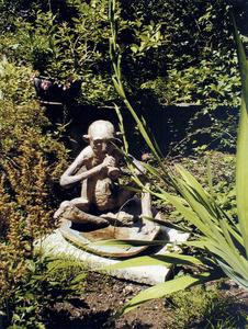 Una escultura de Hans Grass, pintor i escultor alemany que va residir a Formentera.