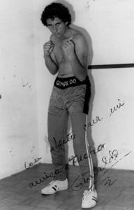 El boxador amateur Vicente Grimaldo Calvo, fundador del Boxing Club Eivissa.