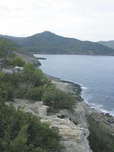 El racó Gros, a ponent de la torre de Portinatx, a la badia de Xarraca. Foto: Felip Cirer Costa.