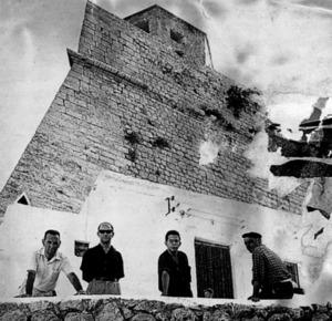 Fotografia dels pintors que formaven el Grup Puget. Foto: Josep Maria Subirà.