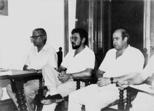 Antoni Serra Colomar, Eduard Ferrer i Bartomeu Cardona sortiren elegits regidors del Grup d´Independents de Formentera en les eleccions de 1997.