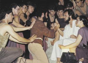 Imatge de la representació <em>Jesucrist Super Star</em> opel Grup de Teatre Arlequín.