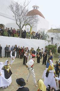 El Grup de ball pagès es Broll de Santa Eulària. Foto: Joan Antoni Riera.