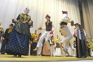 El Grup folklòric Colla de sa Bodega. Foto: Joan Antoni Riera.