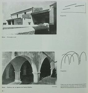 Reproducció d´una pàgina de la revista<em> AC</em>, dedicada a l´arquitectura eivissenca, publicada pel Grupo de Arquitectos y Técnicos Españoles para el Progreso de la Arquitectura Contemporánea.