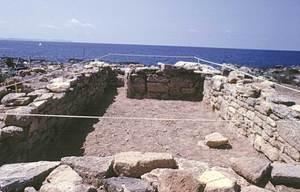 Estança número 2 de les restes arqueològiques de l´illot de na Guardis, freqüentada pels comerciants púnics eivissencs. Foto: Víctor M. Guerrero.