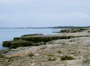 El mollet d´en Guasch, a llevant de la Savina, Formentera. Foto: Felip Cirer Costa.