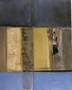Obra de Carles Guasch Guasch, oli sobre cartó, 2001. Foto: Arxiu de Sonya Torres Planells.