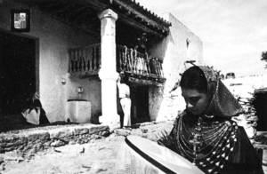 Can Guimó. Sant Josep, protagonista d´una postal turística dels anys seixanta del s. XX. Foto: Subirats.