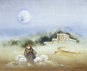 Un quadre de la pintora Jussara Heberle de Oliveira. Foto: Gastao Heberle.