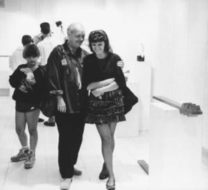 El director teatral Günter Hefft amb la pintora María Catalán. Foto: arxiu de Marià Planells Cardona.