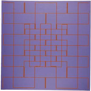 Una obra de Gilbert Herreyns (<em>Laberint</em>, oli sobre tela, 1975).
