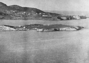 Vista de l´Illa Plana de l´any 1953.