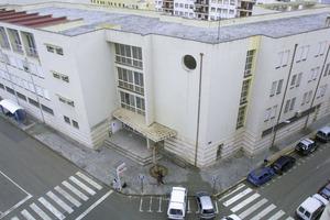 L´edifici de l´Institut d´ensenyament Secundari Santa Maria inaugurat el 1988. Foto: Joan Antoni Riera.