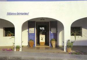 Seu de la Biblioteca Internacional fins al 1997. És al carrer Major de Sant Ferran de ses Roques, Formentera. Foto: Renate Steen.
