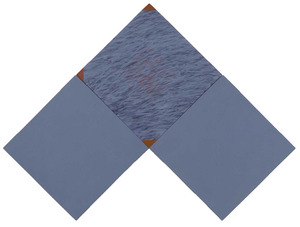 <em>Busca huellas en ti mismo</em>, acríl·lic i tremp sobre tela i fusta, de 110 x 142 cm. Foto: Manfred Ballheimer.