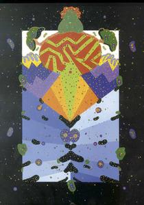<em>Braunia</em> (1970). Acrílic damunt tela, 100 x 73 cm., obra de Zush, pintor que va exposar a la Galeria Ivan Spence.