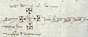 Signatura del rei Jaume I el Conquistador.