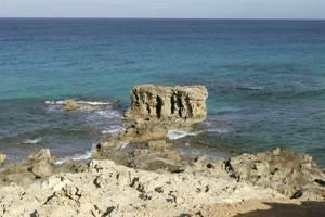 El penyal d´en Jaume, as Carnatge, Formentera. Foto Pins.
