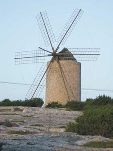 El molí d´en Jeroni, a sa Mirada, Formentera. Foto: Marià Castelló Martínez.