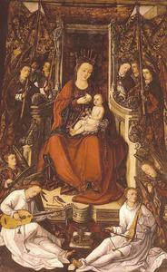 Retaule de la Mare de Déu de Jesús. La taula central, amb la Mare de Déu entronitzada. Foto: Toni Pomar.