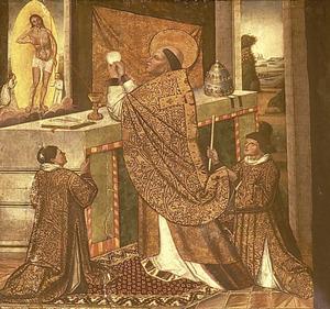 Retaule de la Mare de Déu de Jesús: la missa de sant Gregori. Foto: Toni Pomar.