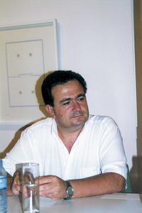 """El filòleg Bernat Joan i Marí. Foto: Vicent Ribas """"Trull""""."""