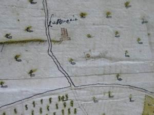 Sa Joveria en el plànol de 1738 de la ciutat d´Eivissa i els seus voltants, de Joan Ballester.