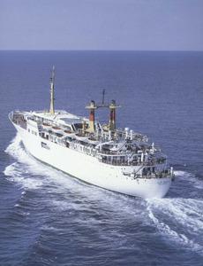 El vaixell Juan March, que serví les línies marítimes d´Eivissa durant molts d´anys. Foto: Trasmediterránea.