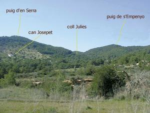 El coll Julies, a la vénda de Benimussa, de Sant Josep de sa Talaia. Foto: Joan Josep Guasch Torres.