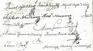 Signatures de diversos membres de la Junta d´autoritats.