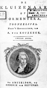 Segona edició holandesa de <em>De Kluizenaar op Formentera</em>, d´August von Kotzebue. (Foto: col·lecció JAR)