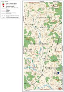 Mapa del torrent de Labritja. Elaboració: Josep Antoni Prats Serra / José F. Soriano Segura / Antoni Ferrer Torres.