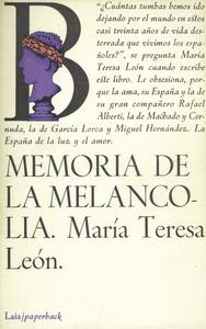 Portada de les memòries de María Teresa León Goyri.