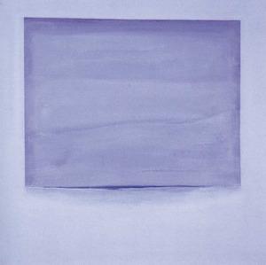 L´obra <em>Mirant potser com creix tímida l´alba</em>, de Cis Lenaerts, acrílic damunt tela, 80 x 80 cm. Foto: Sonya Torres Planells.