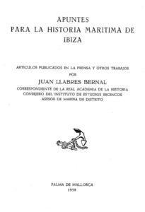 Portada del recull de treballs sobre la marina de les Pitiüses de Joan Llabrés Bernal.