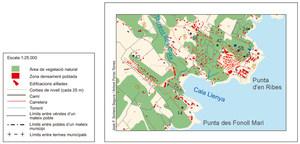 Plànol del nucli turístic de cala Llenya. Elaboració: José F. Soriano Segura / Antoni Ferrer Torres.