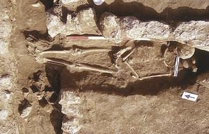 Tomta 202 de l´hort des Llimoners, datada el s. VII dC. Foto. Joan Ramon Torres.
